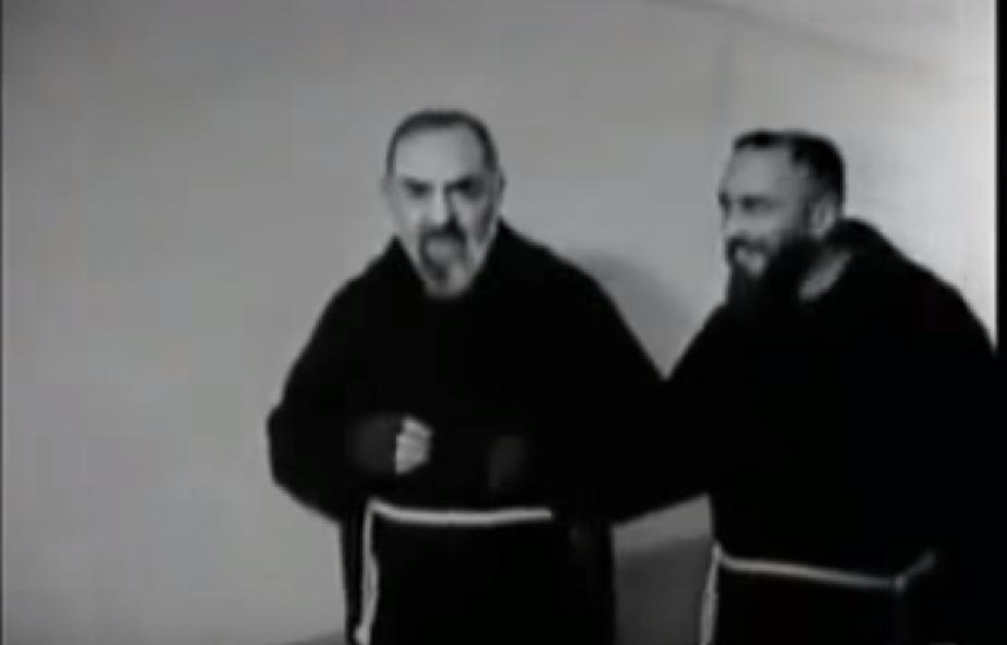 Niezwykłe nagranie świętego ojca Pio [WIDEO]