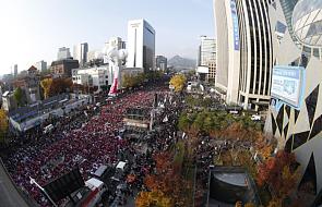 Korea Płd.: protest setek tysięcy Koreańczyków