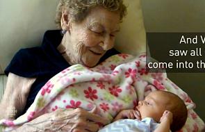 96-letnia kobieta została prapraprababcią [WIDEO]
