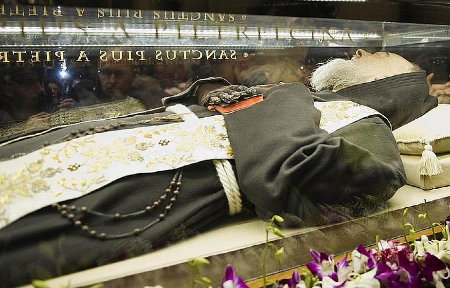 Nietknięte ciało ojca Pio w Rzymie