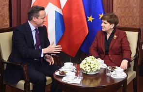Szydło i Cameron o strategicznej współpracy