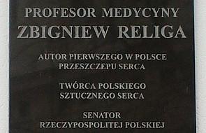 Zabrze: rzeźbiarskie upamiętnienie prof. Religi
