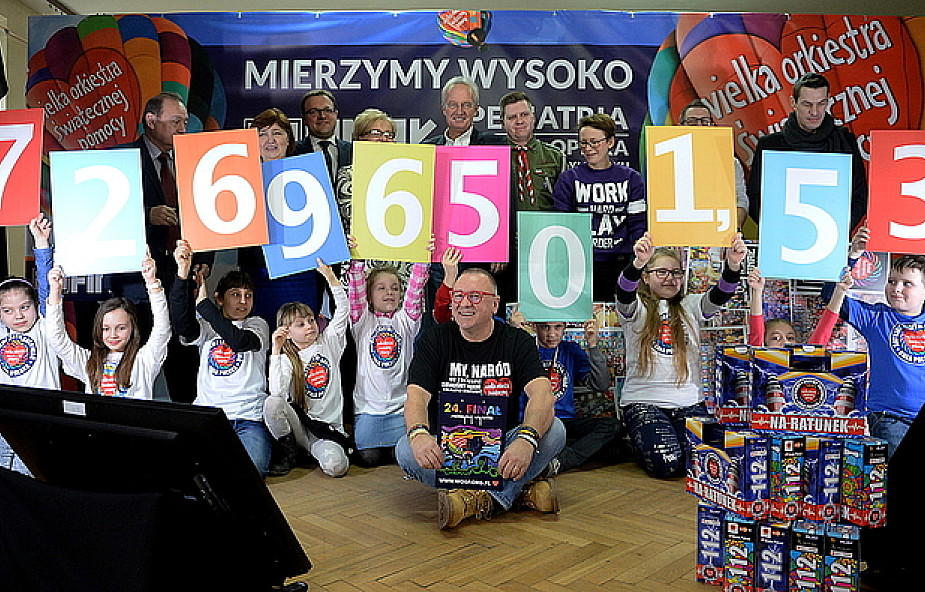WOŚP zebrała ponad 72 ml zł