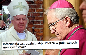 Reakcja Nuncjusza Apostolskiego ws. abpa Paetza