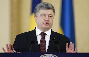Poroszenko: należy utrzymać sankcje wobec Rosji