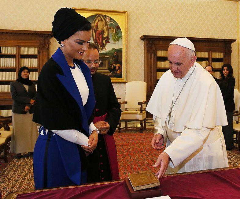 Szejkini Kataru u papieża Franciszka [GALERIA] - zdjęcie w treści artykułu nr 4