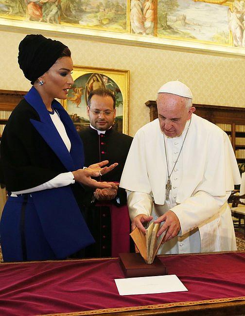 Szejkini Kataru u papieża Franciszka [GALERIA] - zdjęcie w treści artykułu nr 3
