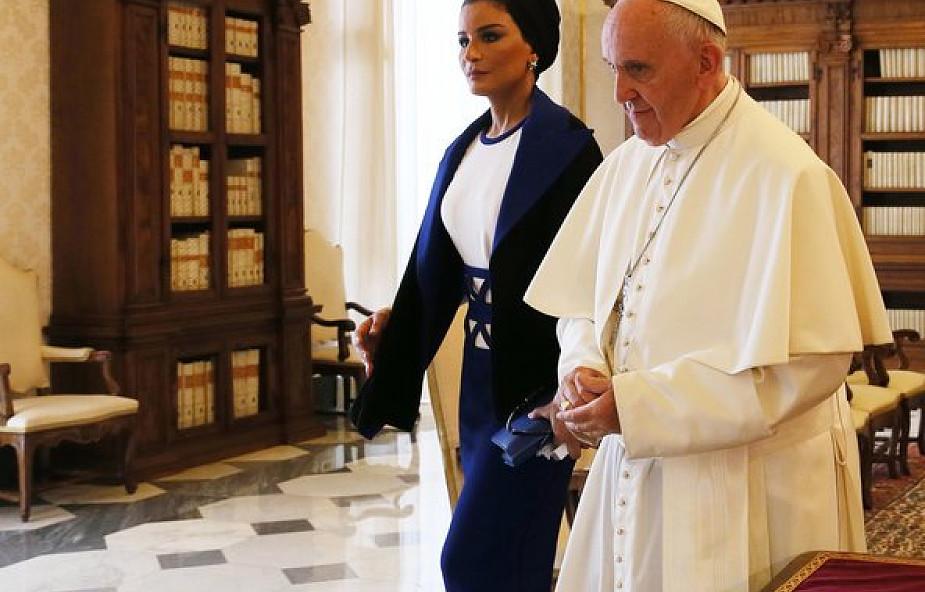 Szejkini Kataru u papieża Franciszka [GALERIA]