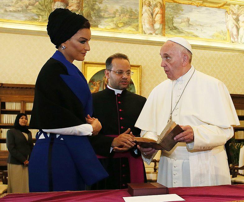 Szejkini Kataru u papieża Franciszka [GALERIA] - zdjęcie w treści artykułu nr 2