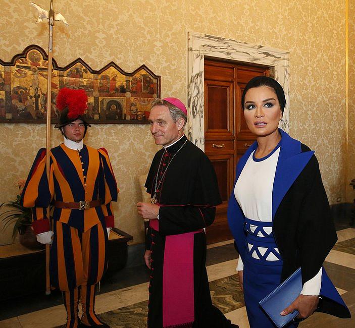Szejkini Kataru u papieża Franciszka [GALERIA] - zdjęcie w treści artykułu nr 5
