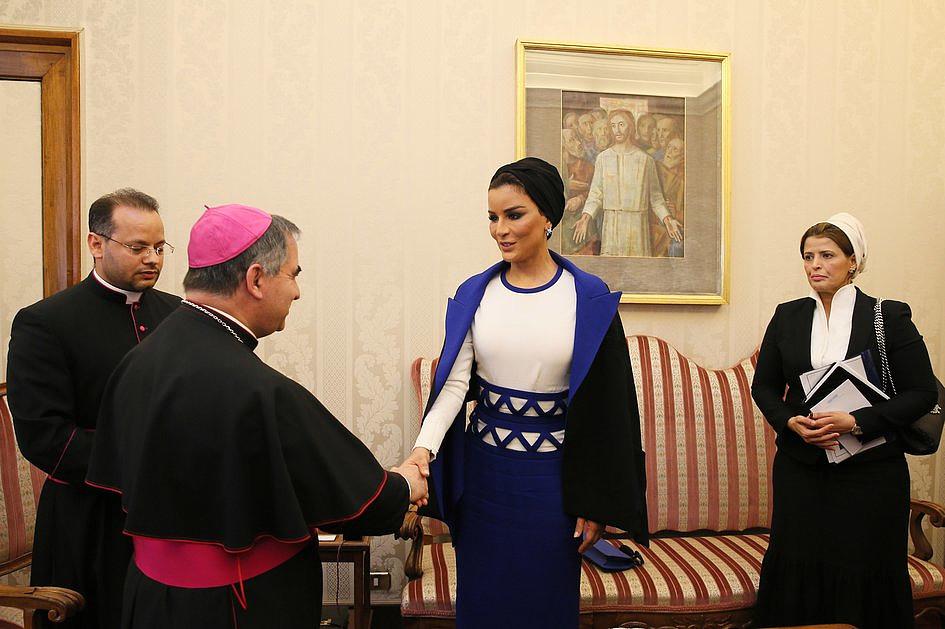 Szejkini Kataru u papieża Franciszka [GALERIA] - zdjęcie w treści artykułu