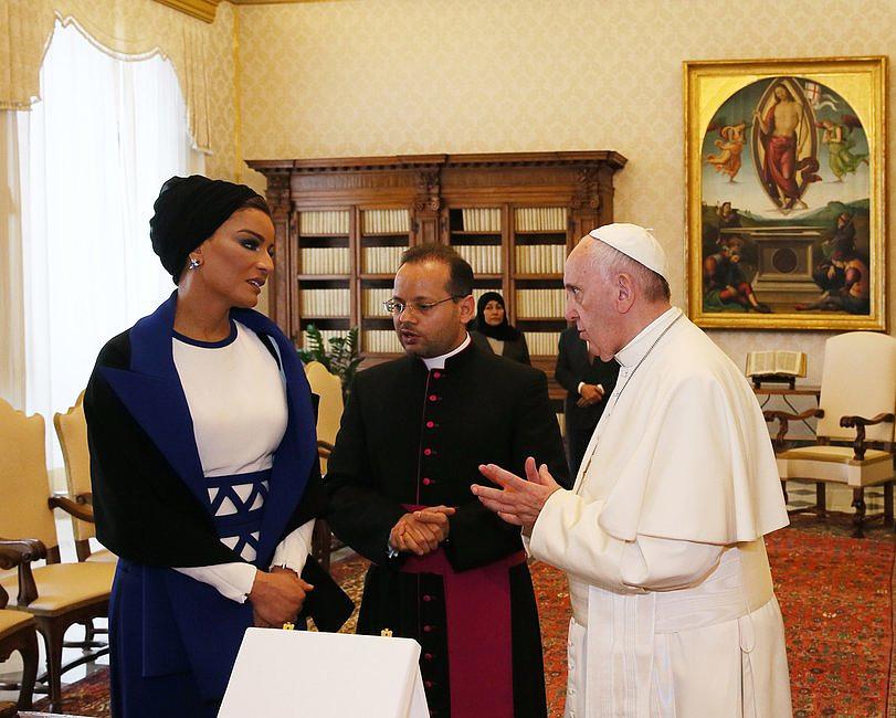 Szejkini Kataru u papieża Franciszka [GALERIA] - zdjęcie w treści artykułu nr 1