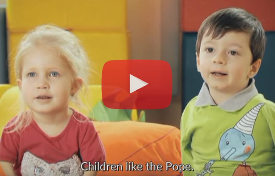 Zobacz, jaki prezent przygotowały dla papieża niepełnosprawne dzieci [WIDEO]