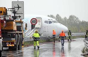 Lądujący samolot wjechał na obwodnicę koło Bergamo