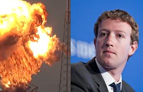 Wybuch na kosmodromie zniszczył satelitę Facebooka [WIDEO]