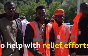 Włochy: uchodźcy pomogli ofiarom trzęsienia ziemi [WIDEO]