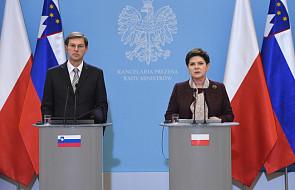 Premierzy Polski i Słowenii zgodnie o kryzysie migracyjnym