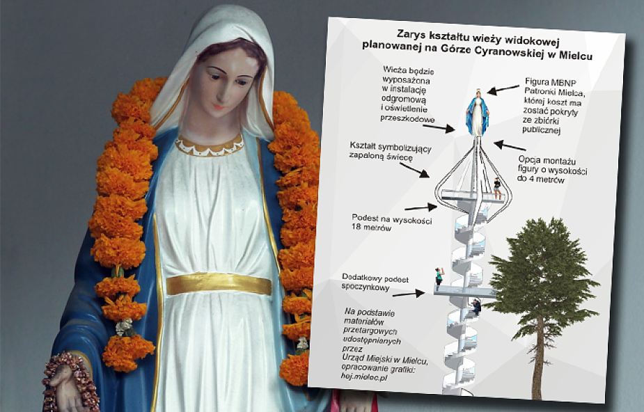 W jednym z polskich miast powstanie wieża widokowa z figurą Matki Bożej