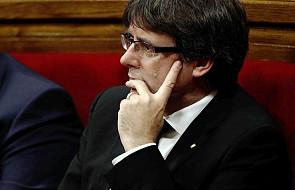 Puigdemont chce, by parlament Katalonii zawiesił skutki deklaracji niepodległości