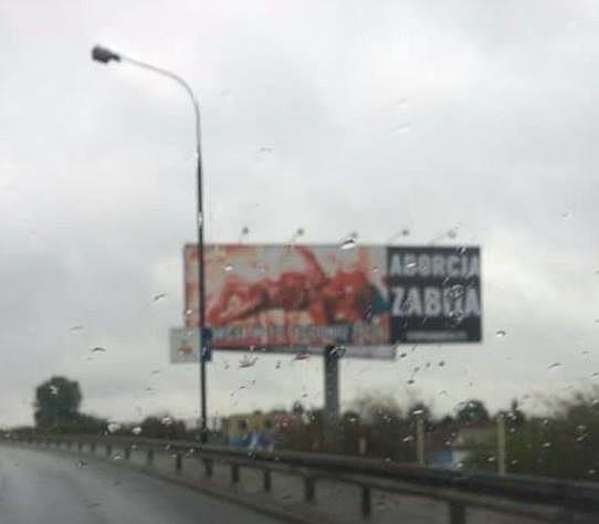 Mocny wpis ojca na temat billboardu antyaborcyjnego.