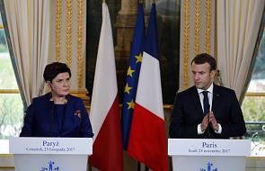 Macron o rozmowie z Szydło: były tematy, w których rozbieżności zmniejszyły się