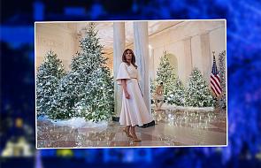 Melania Trump udekorowała Biały Dom na Boże Narodzenie. Internauci zachwyceni