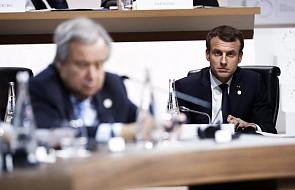 Macron na szczycie klimatycznym w Paryżu: przegrywamy walkę