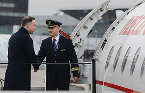 """Prezydent Andrzej Duda przyleciał do Charkowa. """"To będzie trudna wizyta"""""""