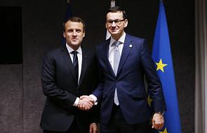 Macron i Morawiecki rozmawiali w Pałacu Elizejskim o reformie sądów i migracji
