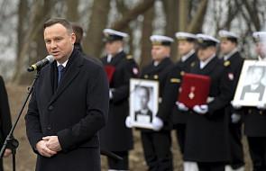 Prezydent: obrońcy polskiego wybrzeża czekali 65 lat na godny spoczynek