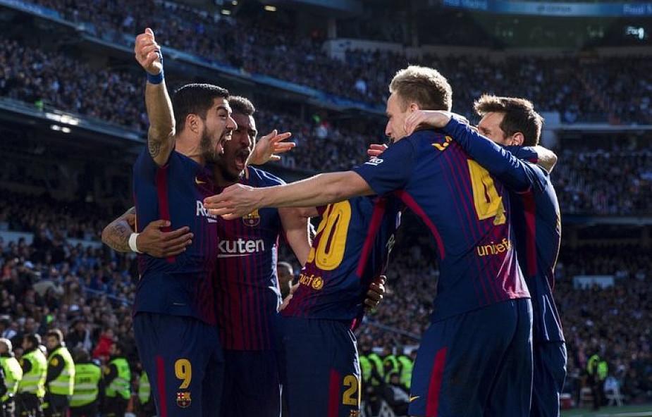 Liga hiszpańska - Barcelona rozgromiła w Madrycie Real 3:0 w El Clasico