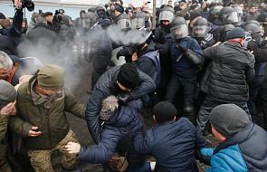 Ukraina: szturm policji na miasteczko namiotowe Saakaszwilego, byłego prezydenta Gruzji