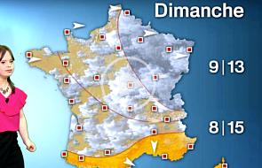 Francja: niepełnosprawna dziewczyna została pogodynką [WIDEO]