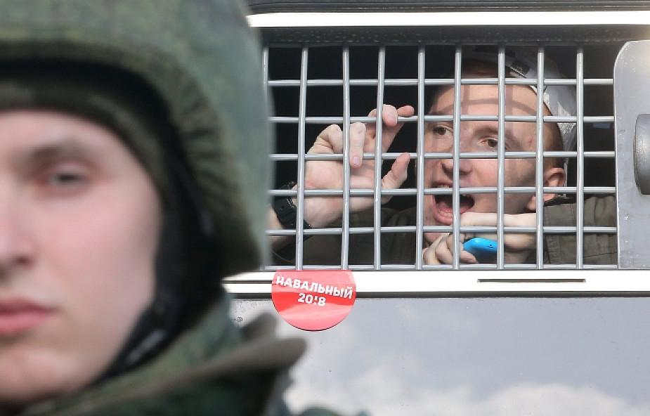Moskwa: na demonstracji zatrzymano setki osób