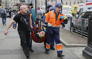Wybuch w metrze w Petersburgu: śledztwo dotyczy zamachu