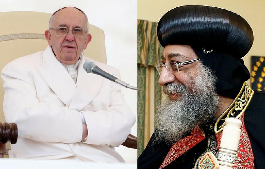 Franciszek zapewnił Tawadrosa o jedności w modlitwie