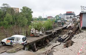 Wrocław: osuwisko na nabrzeżach Odry