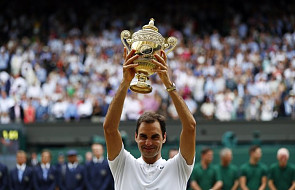 Wimbledon - rekordowy, ósmy tytuł Federera w Londynie