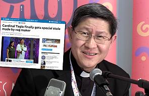 Filipiny: kobieta ze slumsów podarowała kardynałowi Tagle stułę z resztek materiałów