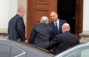 Prezydent Andrzej Duda przybył do Belwederu; spotka się z Jarosławem Kaczyńskim