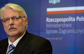 Waszczykowski: decyzja ws. reparacji od Niemiec to kwestia tygodni lub miesięcy