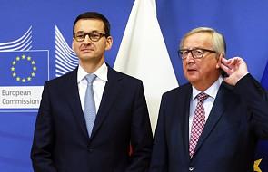 Media w USA i Reuters: rozmowa Morawiecki-Juncker nowym początkiem w relacjach z UE