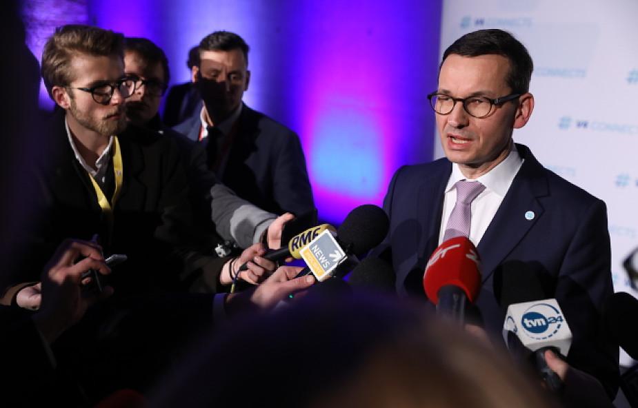 Morawiecki: moja wizja Europy to silna wspólnota suwerennych państw