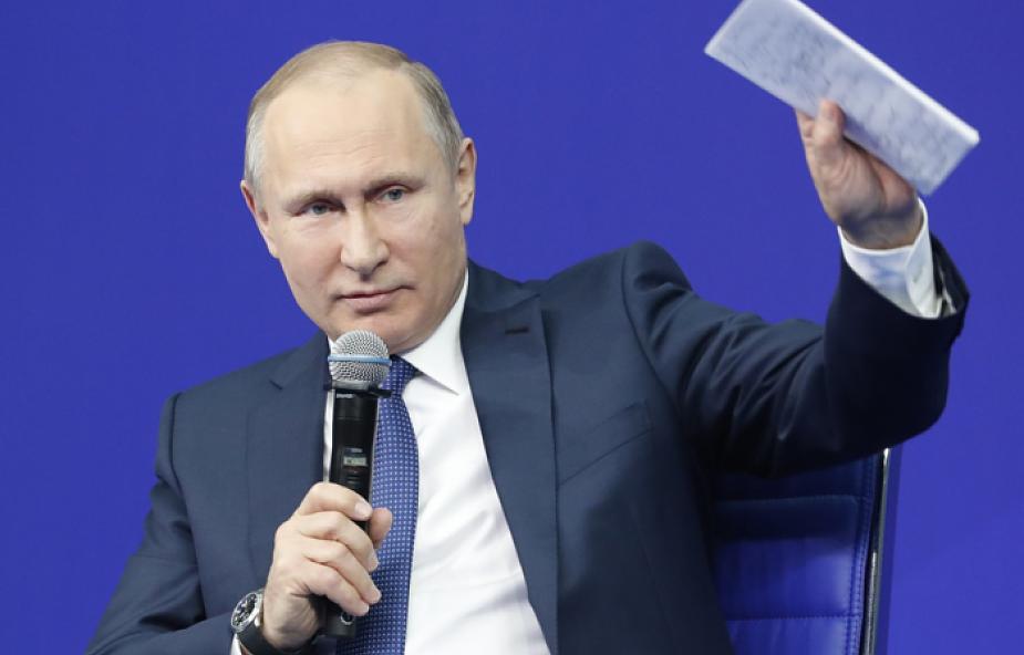 Putin: amerykańska lista szkodliwa dla stosunków międzynarodowych