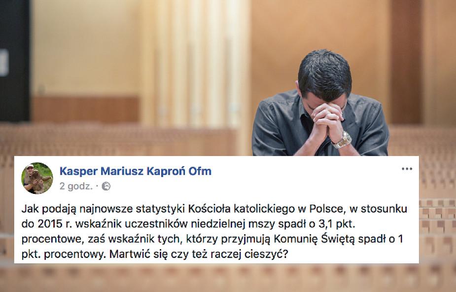 Spadek liczby wiernych w Polsce: liczy się jakość czy ilość? Franciszkanin odpowiada