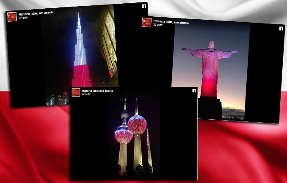 Perły architektury w biało-czerwonych barwach. Świat świętował razem z Polską [ZDJĘCIA]