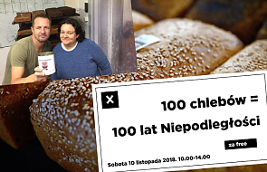 """""""100 chlebów na 100 lat Niepodległości"""". Piekarz z Poznania zachwyca pomysłem na świętowanie"""