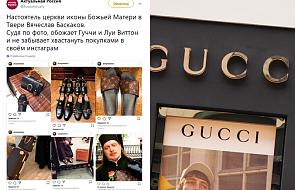 Duchowny ukarany za zdjęcia u Gucciego i Vuittona. Fotografował się w sklepach