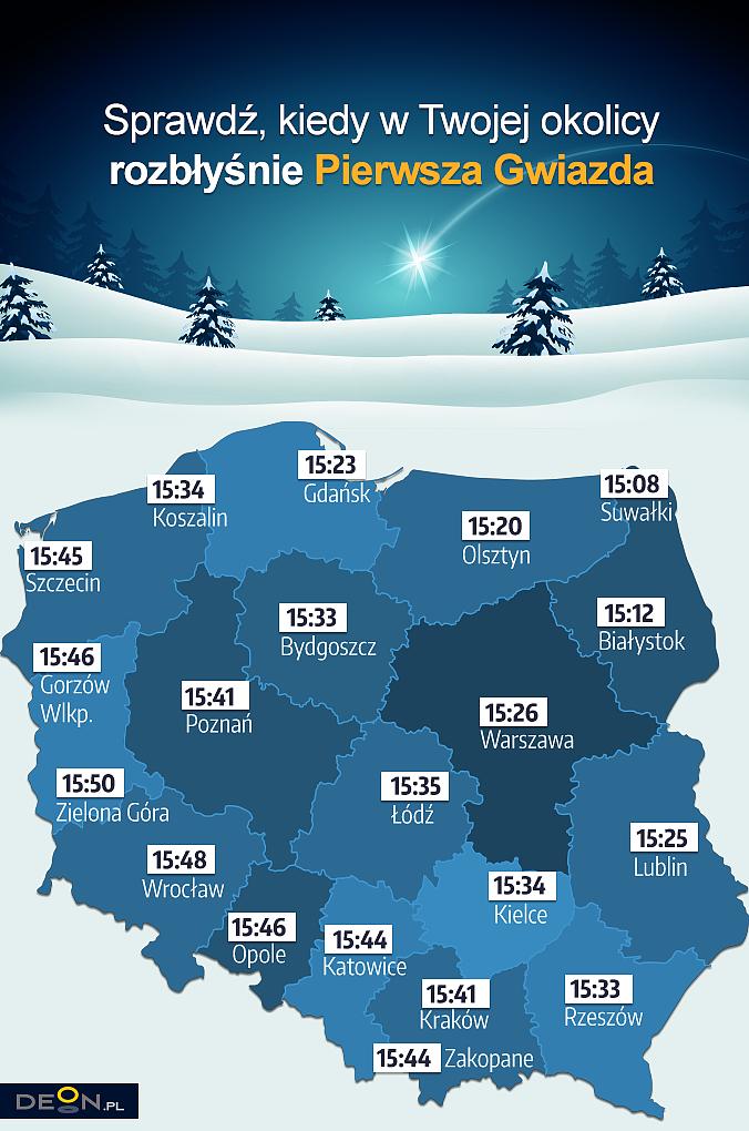 Sprawdź, o której godzinie w twojej okolicy rozbłyśnie Pierwsza Gwiazdka - zdjęcie w treści artykułu