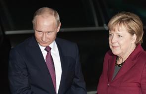 Angela Merkel i Władymir Putin rozmawiali o konfliktach w Syrii i na Ukrainie
